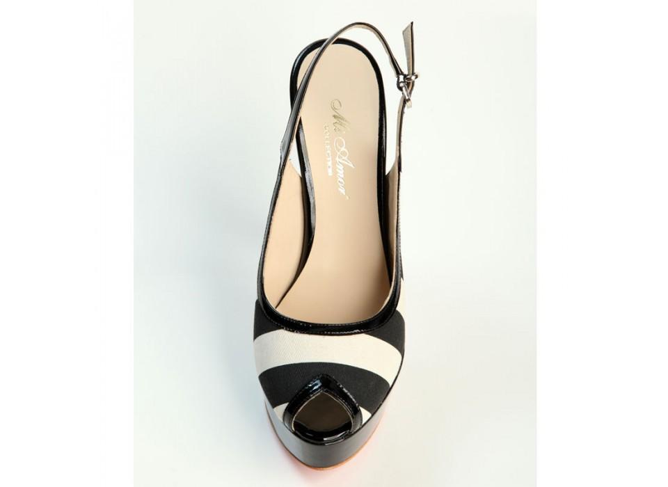 cheap for discount e8803 82822 Scarpe donna Chanel tessuto e vera pelle nero tacco alto con ...
